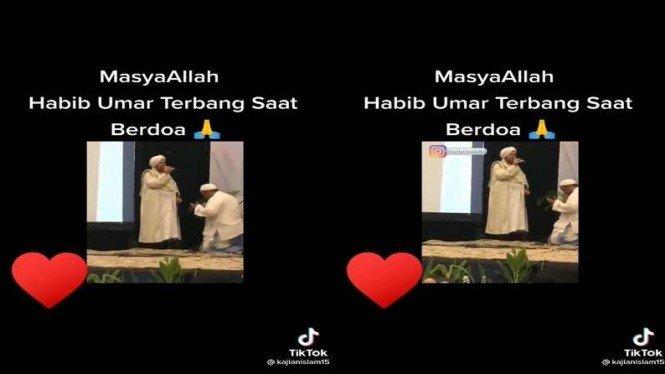 Habib Umar terbang sata berdoa viral