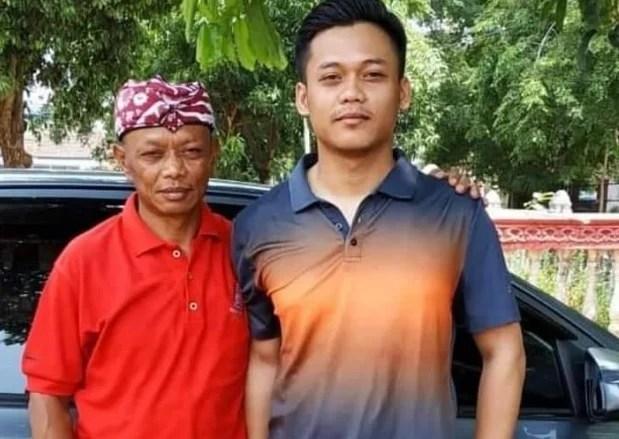 Adik Yosef, Mulyana bersama anaknya yang polisi Subang