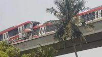 LRT tabrakan di Cibubur. Foto: Instagram